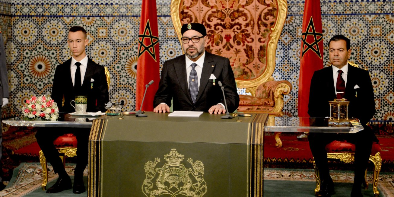 (Image d'archive) Mohammed VI lors du discours à la nation en novembre 2018